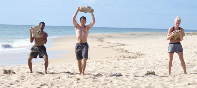Training at Zahora beach